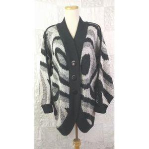 VTG Diversity Fuzzy Long Cardigan 90s to 20s S